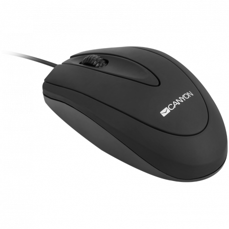 CANYON wired optical Mouse with 3 buttons DPI 1000 Black cable length 1.15m 100*51*29mm 0.07kg