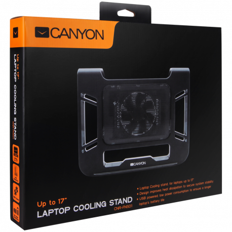 Canyon Laptop Cooling Stand for laptop up to 17' black color