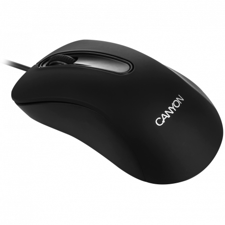 CANYON Wired Optical Mouse with 3 buttons 800 DPI optical technology for precise tracking black