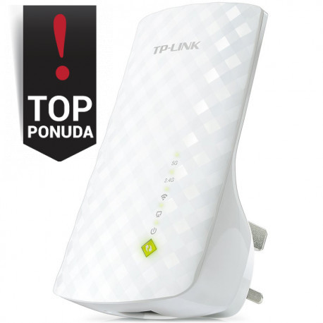 AC750 Dual Band Wireless Wall Plugged Range Extender Mediatek 433Mbps at 5GHz + 300Mbps at