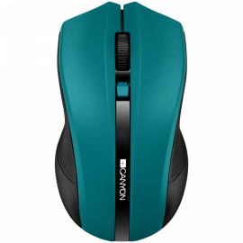 CANYON 2.4GHz wireless Optical Mouse with 4 buttons DPI 800/1200/1600 Green 122*69*40mm 0.067kg