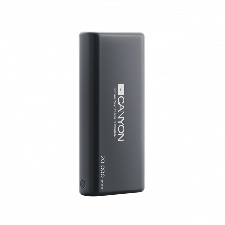 CANYON Power bank 20000mAh built-in 1057120 Li-poly battery Input 5V/2.1A Output 5V/2.1A(Max) with Smart IC