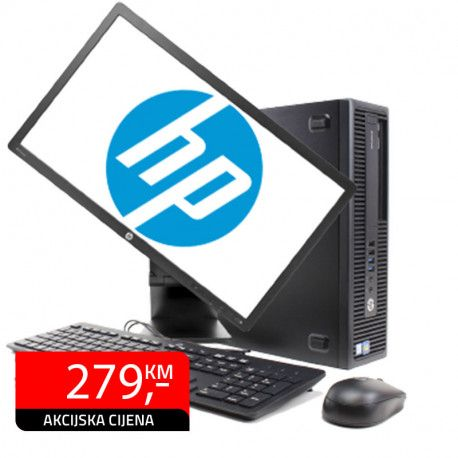 RAČUNAR HP ELITEDESK 800 G1 SFF G3220 4GB 250GB + monitor 23""