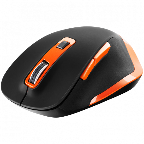 Canyon 2.4Ghz Wireless mouse with 6 buttonsDPI 800/1200/1600/2000/2400Battery:AAA*2 pcs Black-Orange119.6*81.1*43.3mm86.8g