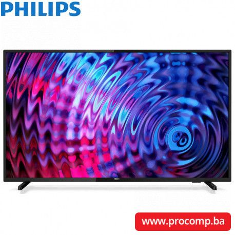 "PHILIPS TV LED 43"" (108 cm) Full HD Ultra Slim PixelPlusHD 1920x1080p 4:3/16:9 250 cd/m2"