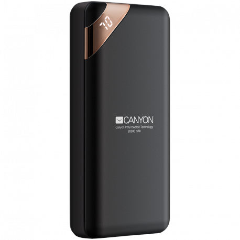 CANYON Power bank 20000mAh Li-poly battery Input 5V/2A Output 5V/2.1A(Max) with Smart IC and