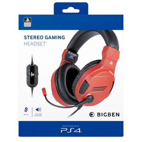 Bigben PS4 Stereo Gaming 848,669 v3 Red