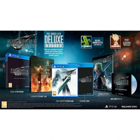 Final Fantasy VII HD Remake Deluxe Edition PS4