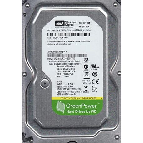 WD HDD 1TB SATA3 64MB RC