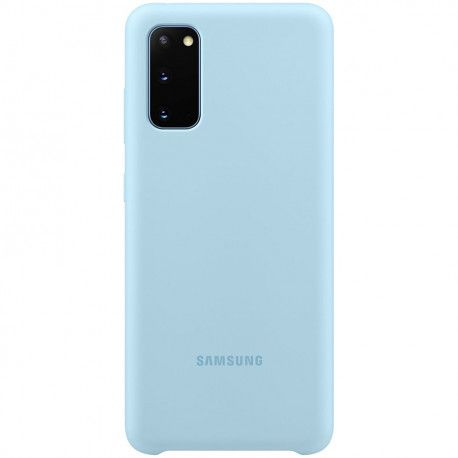 Samsung Galaxy S20 Hard-Cover Silicone Cover blue