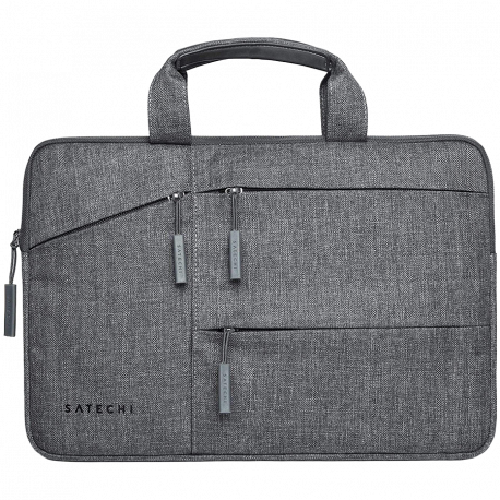 Satechi 15 inch WATER-RESISTANT LAPTOP CARRYING CASE WITH POCKETS Gray