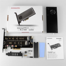 AXAGON PCEM2-DC PCI-E 3.0 x4-DUAL M.2 SSD(NVMe + SATA)