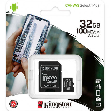 Kingston MicroSD Canvas Select Plus Memory Card 32GB Class10