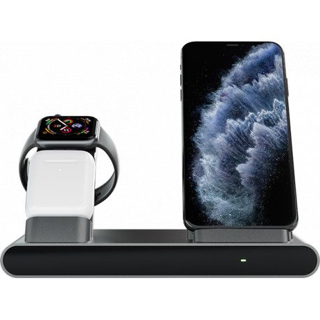Prestigio ReVolt A1 charging station for iPhone Apple Watch AirPods 2 wireless interfaces fast charging
