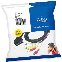 ZED electronic Scart - RCA (činč) kabel