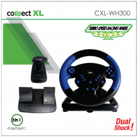 Gaming volan Connect XL 3u1, PS2/PS3/PC