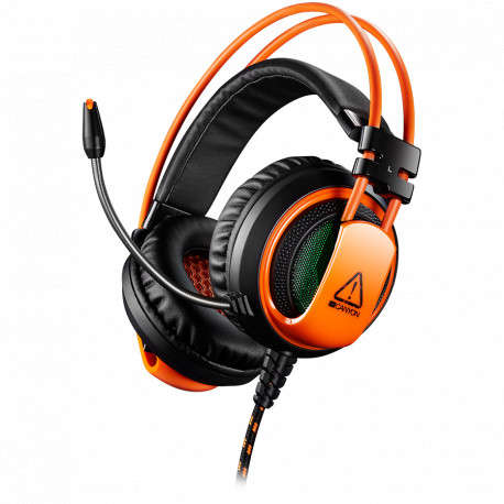 CANYON Gaming headset 3.5mm jack plus USB connector for vibration function light control button adjustable