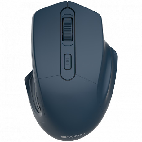 CANYON 2.4GHz Wireless Optical Mouse with 4 buttons DPI 800/1200/1600 Dark Blue 115*77*38mm 0.064kg