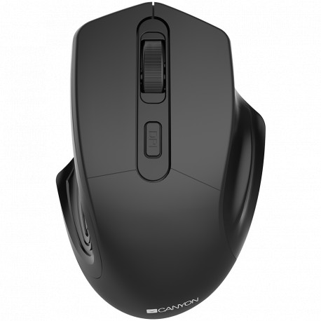 CANYON 2.4GHz Wireless Optical Mouse with 4 buttons DPI 800/1200/1600 Black 115*77*38mm 0.064kg