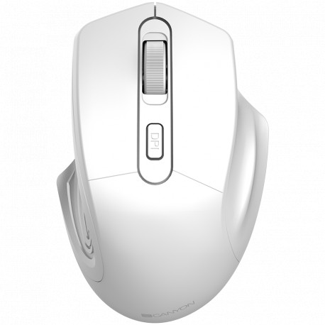 CANYON 2.4GHz Wireless Optical Mouse with 4 buttons DPI 800/1200/1600 Pearl white 115*77*38mm 0.064kg