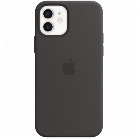 Apple iPhone 12 and 12 Pro Silicone Case with MagSafe - Black
