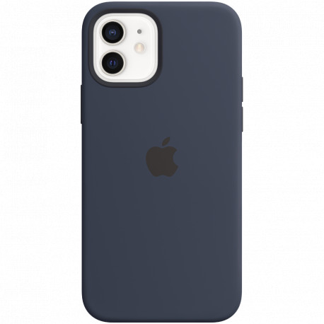 Apple iPhone 12 or 12 Pro Silicone Case with MagSafe Deep Navy