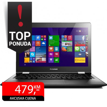 "Laptop Lenovo Yoga 500-14ISK, Touch Full HD 14"", Intel Pentium 4405U"