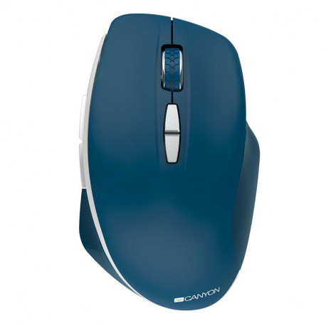 Canyon 2.4 GHz Wireless mouse with 7 buttons DPI 800/1200/1600 Battery: AAA*2pcsBlue72*117*41mm 0.075kg