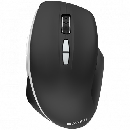 Canyon 2.4 GHz Wireless mouse with 7 buttons DPI 800/1200/1600 Battery: AAA*2pcsBlack72*117*41mm 0.075kg