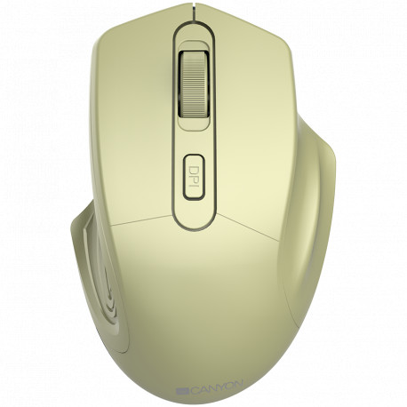 CANYON 2.4GHz Wireless Optical Mouse with 4 buttons DPI 800/1200/1600 Golden 115*77*38mm 0.064kg