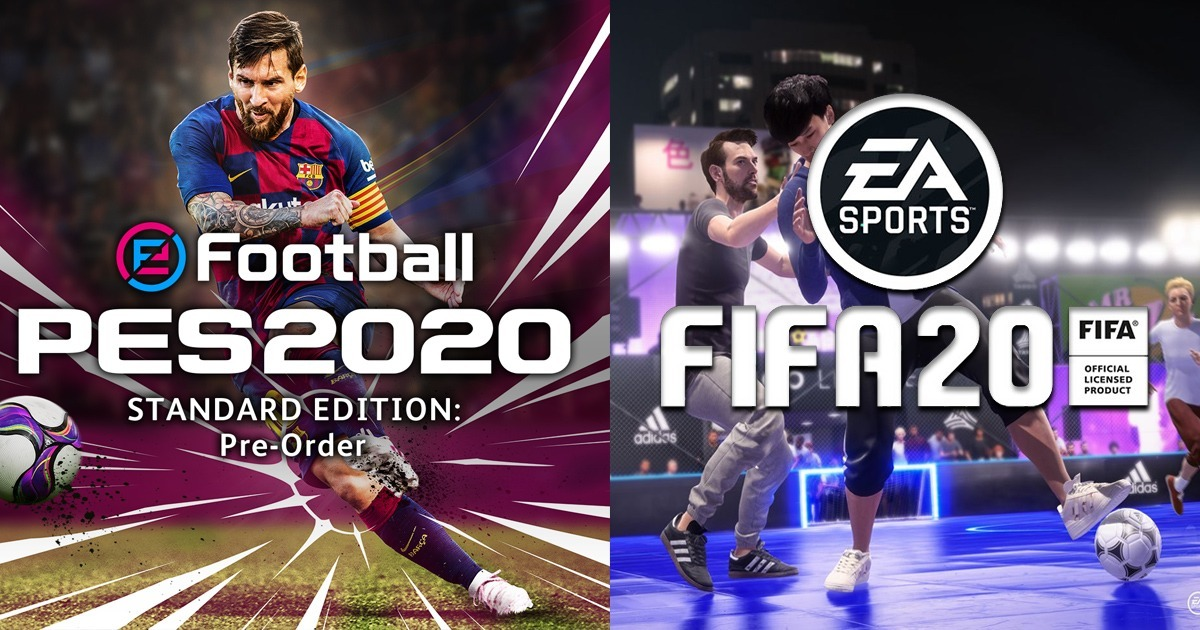 Image result for pes 2020 vs fifa 20